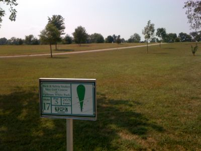 White Park, Main course, Hole 17 Hole sign
