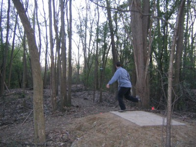 Bandemer Park, Bandemer, Hole 6 Middle tee pad