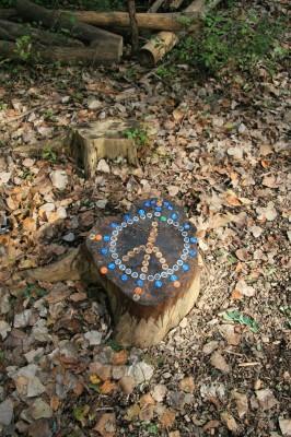 Bandemer Park, Bandemer, Hole 5 Hole sign