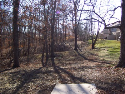 Boone Woods Park, Main course, Hole 13 Tee pad