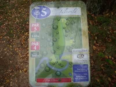 Idlewild, Main course, Hole 5 Hole sign