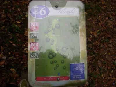 Idlewild, Main course, Hole 6 Tee pad