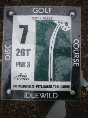 Idlewild, Main course, Hole 7 Hole sign