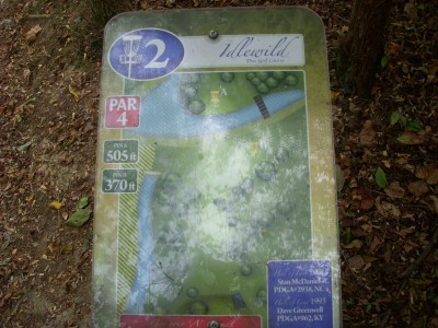 Idlewild, Main course, Hole 2 Hole sign