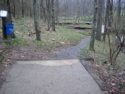 Idlewild, Main course, Hole 17 Long tee pad
