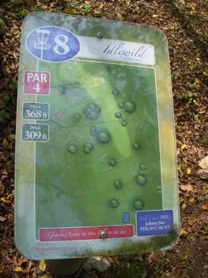 Idlewild, Main course, Hole 8 Hole sign