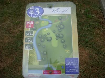 Idlewild, Main course, Hole 3 Hole sign