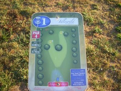 Idlewild, Main course, Hole 1 Tee pad