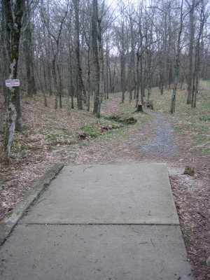 Idlewild, Main course, Hole 14 Tee pad