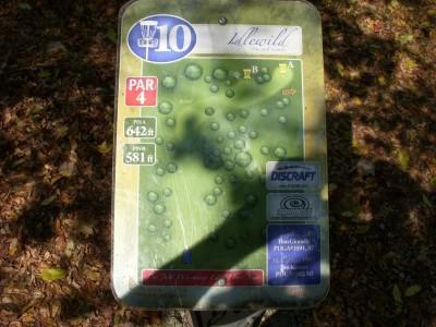 Idlewild, Main course, Hole 10 Hole sign