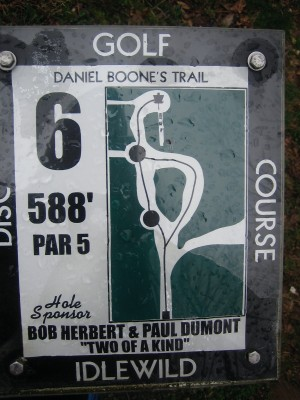 Idlewild, Main course, Hole 6 Hole sign