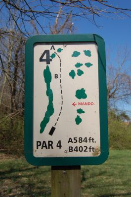Freeman Lake Park, Main course, Hole 4 Hole sign