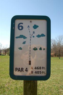 Freeman Lake Park, Main course, Hole 6 Hole sign