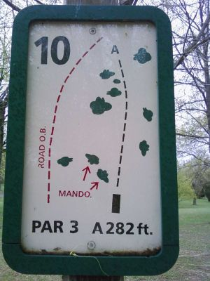 Freeman Lake Park, Main course, Hole 10 Tee pad