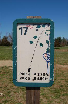Freeman Lake Park, Main course, Hole 17 Hole sign