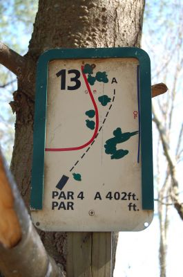 Freeman Lake Park, Main course, Hole 13 Hole sign
