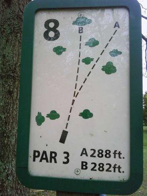 Freeman Lake Park, Main course, Hole 8 Tee pad