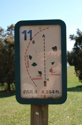 Freeman Lake Park, Main course, Hole 11 Hole sign