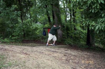 Vastwood Park, Main course, Hole 9 Tee pad