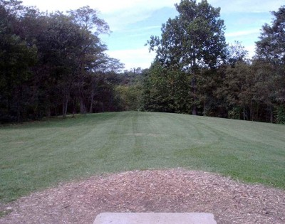 Banklick Woods Park, Main course, Hole 13 Tee pad