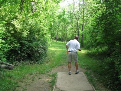 Veterans Park, Main course, Hole 16 Tee pad
