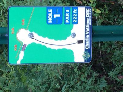 Charlie Vettiner Park, Main course, Hole 1 Hole sign