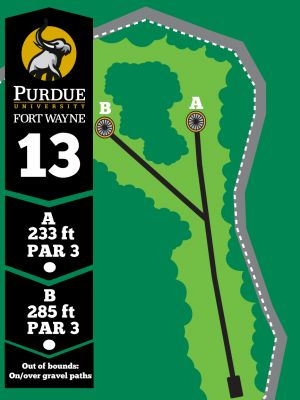 Purdue Fort Wayne University, Mastodon DGC, Hole 13 Tee pad