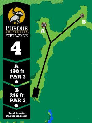 Purdue Fort Wayne University, Mastodon DGC, Hole 4 Tee pad
