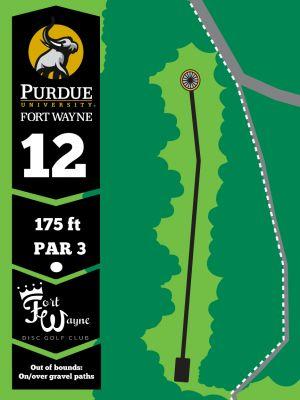 Purdue Fort Wayne University, Mastodon DGC, Hole 12 Tee pad