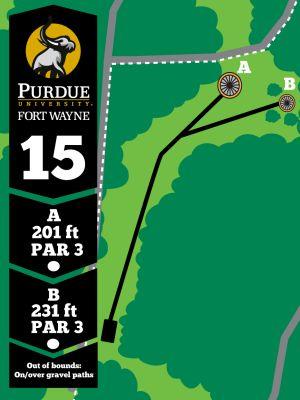 Purdue Fort Wayne University, Mastodon DGC, Hole 15 Tee pad