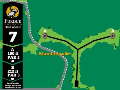 Purdue Fort Wayne University, Mastodon DGC, Hole 7 Tee pad
