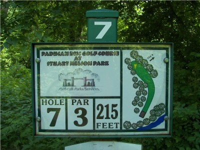 Paducah DGC @ Stuart Nelson Park, Main course, Hole 7 Hole sign