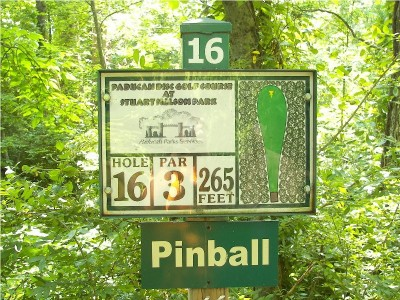 Paducah DGC, Main course, Hole 16 Hole sign