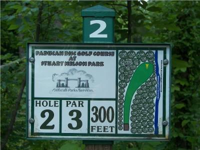 Paducah DGC @ Stuart Nelson Park, Main course, Hole 2 Hole sign
