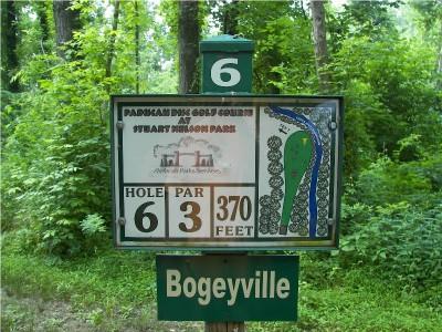 Paducah DGC @ Stuart Nelson Park, Main course, Hole 6 Hole sign