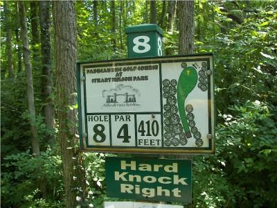 Paducah DGC, Main course, Hole 8 Hole sign