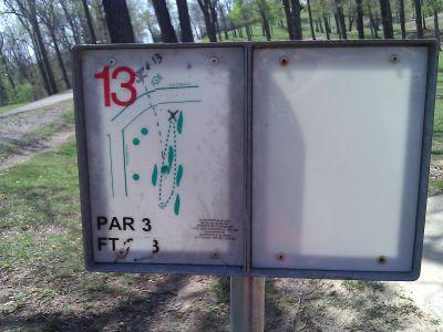 Radcliff DGC, Main course, Hole 13 Tee pad