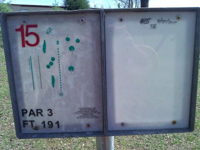 Radcliff DGC, Main course, Hole 15 Tee pad