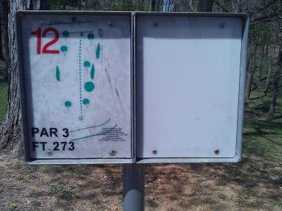 Radcliff DGC, Main course, Hole 12 Tee pad