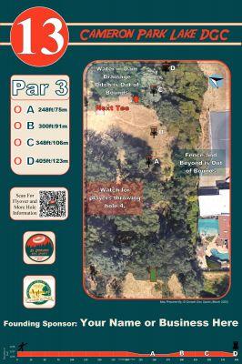 Cameron Park Lake, Main course, Hole 13 Hole sign