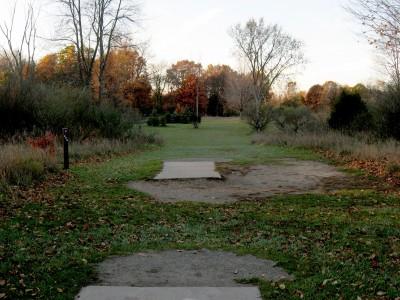 Hudson Mills Metropark, Original course, Hole 5 Long tee pad