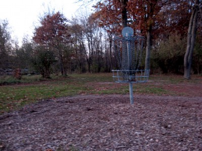 Hudson Mills Metropark, Original course, Hole 17 Reverse (back up the fairway)