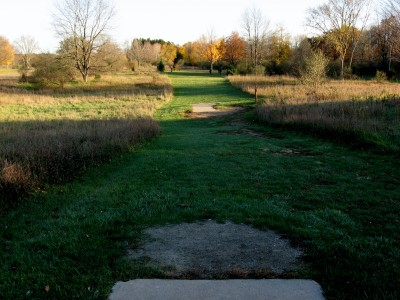 Hudson Mills Metropark, Original course, Hole 4 Long tee pad