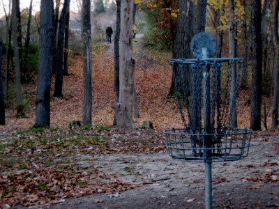 Hudson Mills Metropark, Original course, Hole 7 Reverse (back up the fairway)