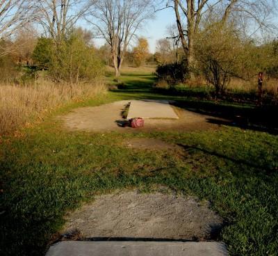 Hudson Mills Metropark, Original course, Hole A Long tee pad
