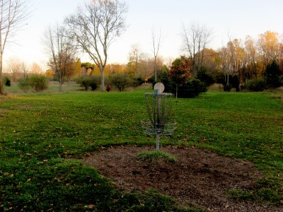 Hudson Mills Metropark, Original course, Hole 5 Reverse (back up the fairway)