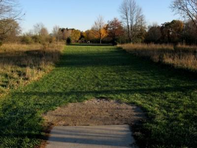 Hudson Mills Metropark, Original course, Hole 4 Short tee pad