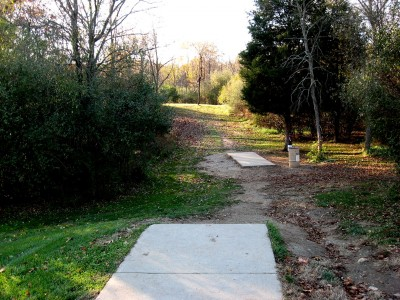 Hudson Mills Metropark, Original course, Hole 1 Long tee pad