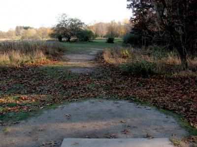 Hudson Mills Metropark, Original course, Hole 3 Short tee pad