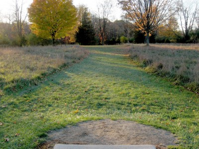 Hudson Mills Metropark, Original course, Hole D Short tee pad